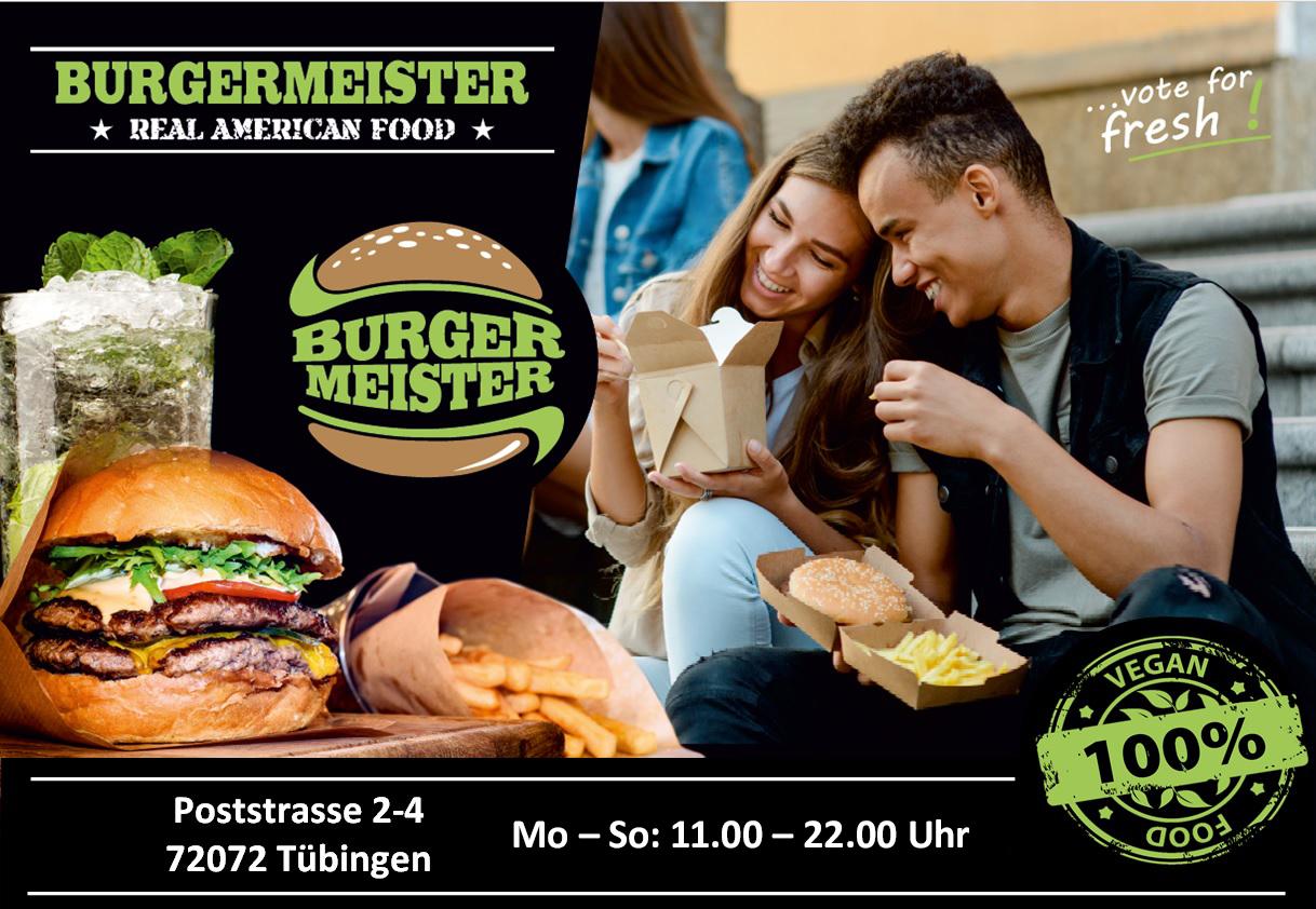 Burgermeister Tübingen Poststrasse Öffnungszeiten